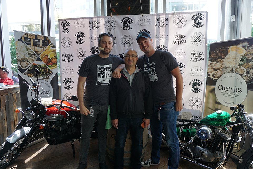 Shuck It Forward Bikers for Autism event